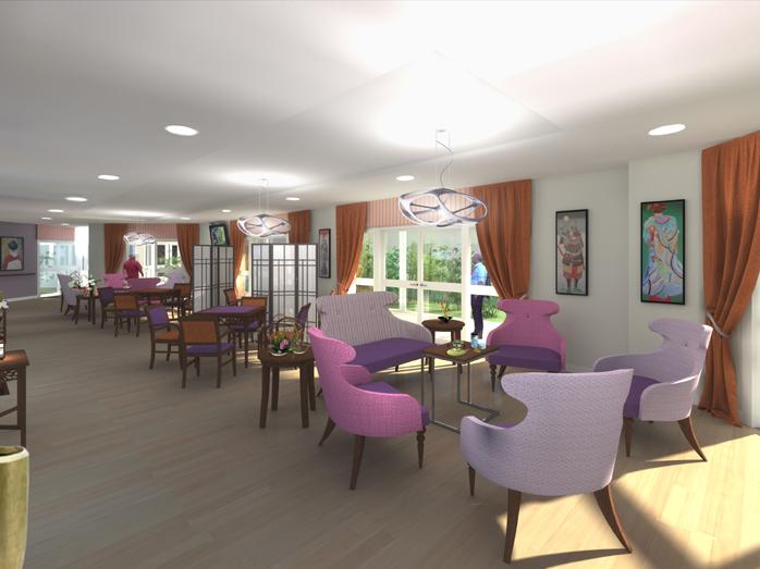 d coration int rieure d 39 une maison de retraite. Black Bedroom Furniture Sets. Home Design Ideas